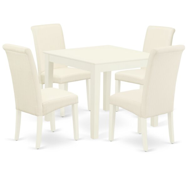 Ballston 5 Piece Solid Wood Dining Set by Winston Porter Winston Porter