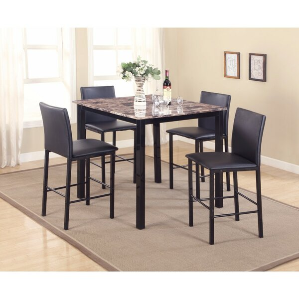 Ontiveros 5 Piece Counter Height Dining Set by Winston Porter