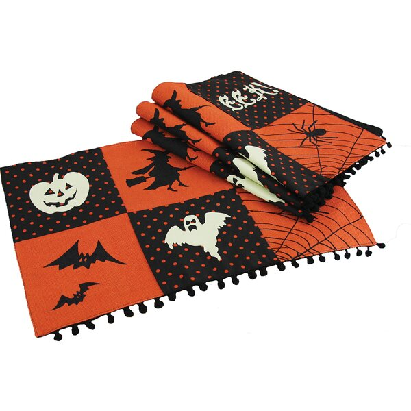 Halloween Patchwork Placemat (Set of 4) by Xia Home Fashions