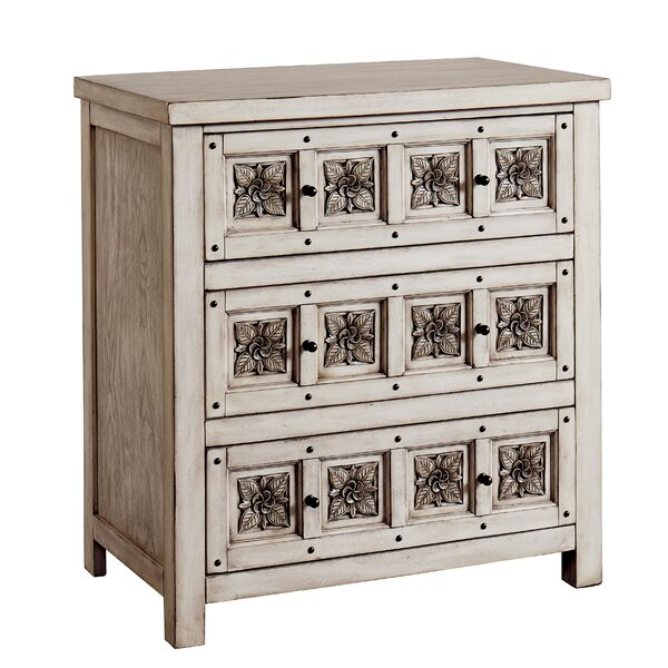 Doniphan 3 Drawer Accent Chest by Ophelia & Co.