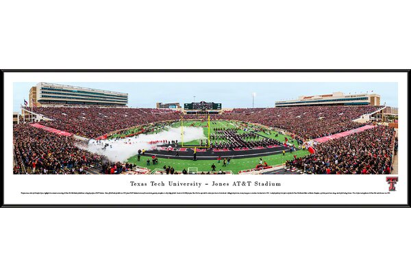 NCAA Texas Tech University by Christopher Gjevre Framed Photographic Print by Blakeway Worldwide Panoramas, Inc