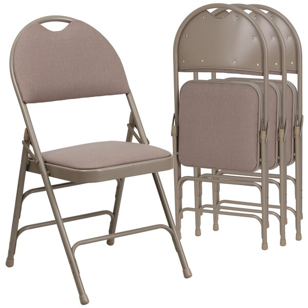 Laduke Padded Folding Chair (Set of 4) by Symple Stuff