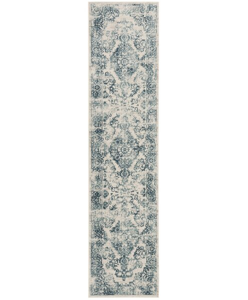 Van Andel Blue/Beige Area Rug by Alcott Hill