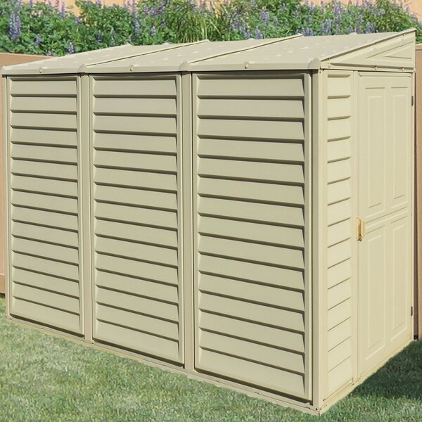 SideMate 4 ft. W x 8 ft. D Plastic Lean-To Storage Shed by Duramax Building Products