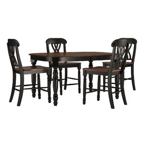 Ashleigh 5 Piece Counter Height Dining Set By Alcott Hill