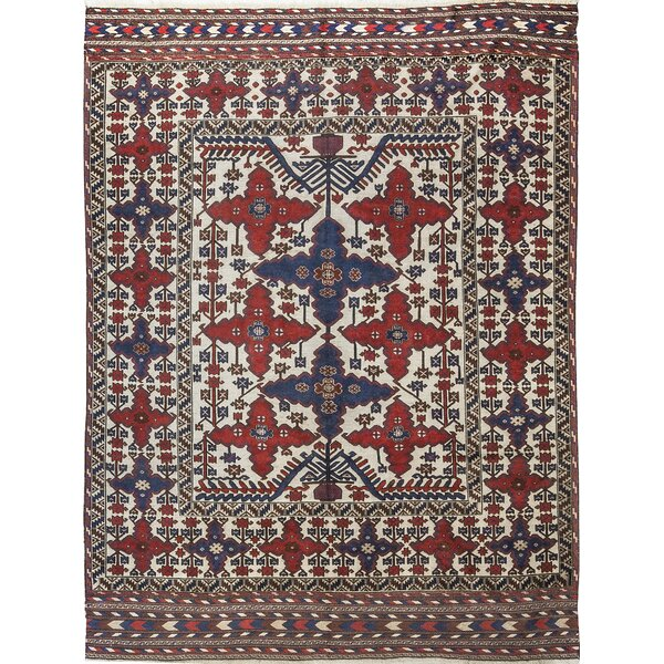 One-of-a-Kind Karghai Handwoven Wool Beige/Red/Blue Indoor Area Rug by Bokara Rug Co., Inc.