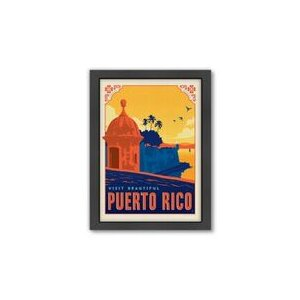 Puerto Rico by Anderson Design Group Framed Vintage Advertisement by Americanflat