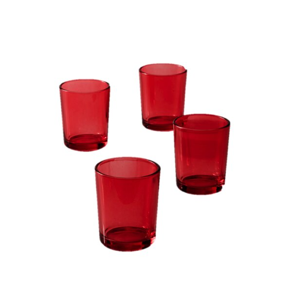 Glass Votive Holder (Set of 4) by Ebern Designs