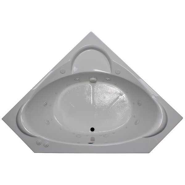 60 x 60 Corner Salon Spa Air/Whirlpool Tub by American Acrylic