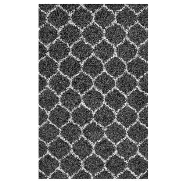 Eleftheria Moroccan Trellis Black/Ivory Area Rug by Wrought Studio