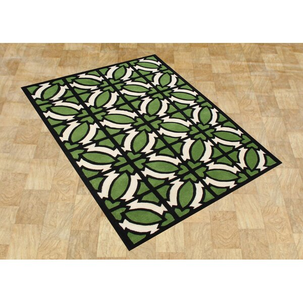 Alliyah Jet Green Area Rug by James Bond