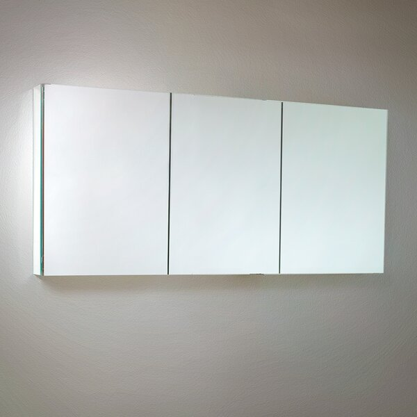 60 x 26 Recessed or Surface Mount Frameless Medicine Cabinet with 4 Adjustable Shelves