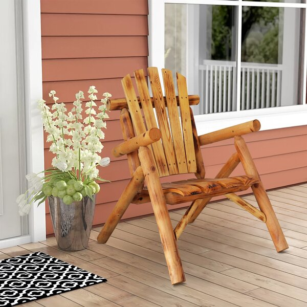Bennet Log Patio Chair by Millwood Pines Millwood Pines
