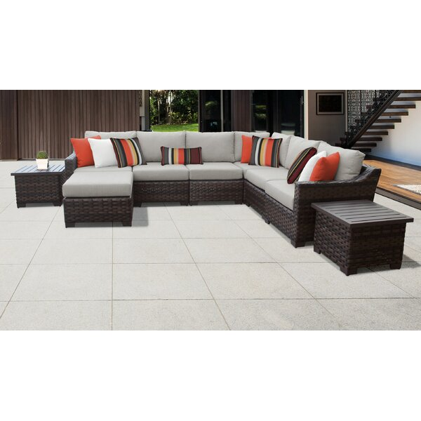 River Brook 9 Piece Seating Group by kathy ireland Homes & Gardens by TK Classics