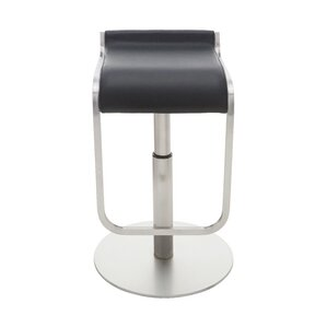 Adora Adjustable Height Bar Stool  sc 1 st  AllModern & Modern u0026 Contemporary Real Leather Bar Stools | AllModern islam-shia.org