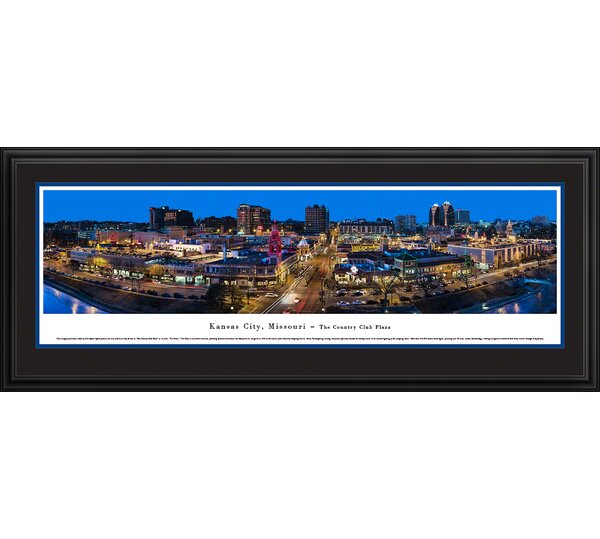 Kansas City, Missouri-The Plaza by Christopher Gjevre Framed Photographic Print by Blakeway Worldwide Panoramas, Inc