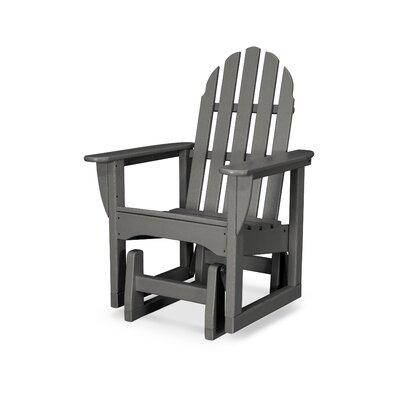 Classic Adirondack Plastic Glider Adirondack Chair POLYWOOD® Color: Slate Grey