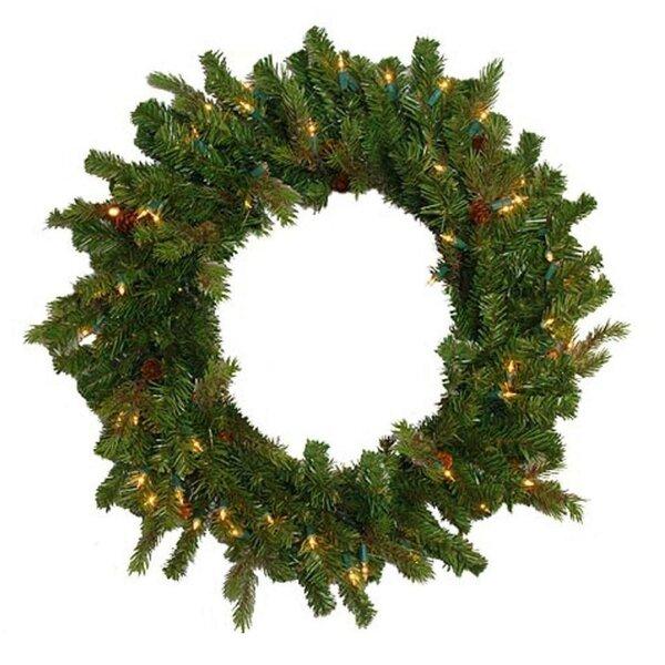 Hunter Fir Pre-Lit Artificial Christmas Wreath by Northlight Seasonal
