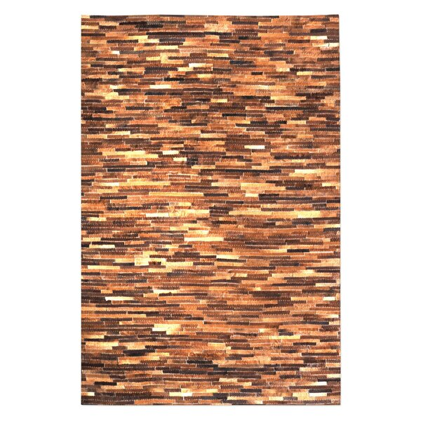 Hurst Hand-Woven Medium Brown Area Rug by Union Rustic