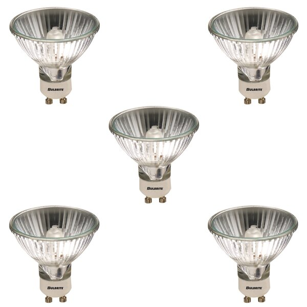 75W GU10 Dimmable Halogen Light Bulb (Set of 5) by Bulbrite Industries