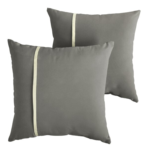 Chau Indoor/Outdoor Throw Pillow (Set of 2) by Rosecliff Heights