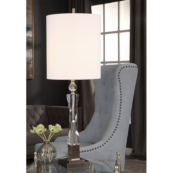 Biddlestone Twisted Crystal 38 Table Lamp by Canora Grey