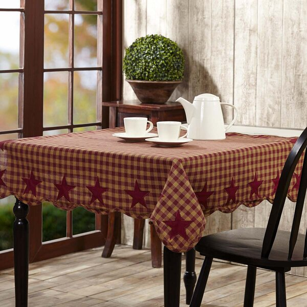 Deuxville Star Scalloped Tablecloth by August Grove
