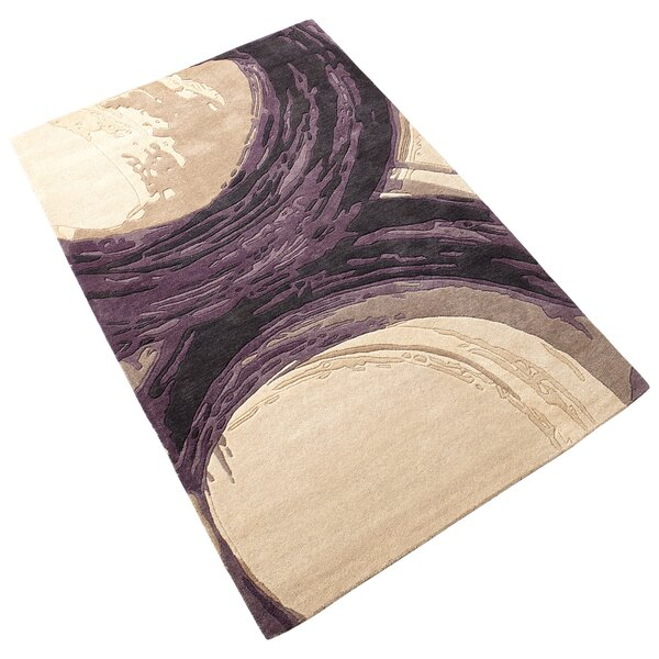 Percival Hand-Tufted Purple/Ivory Area Rug by Cyan Design