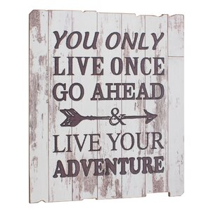 Stonebriar 'Live Your Adventure' Weathered Textual Art on Wood by CKK Home Décor, LP