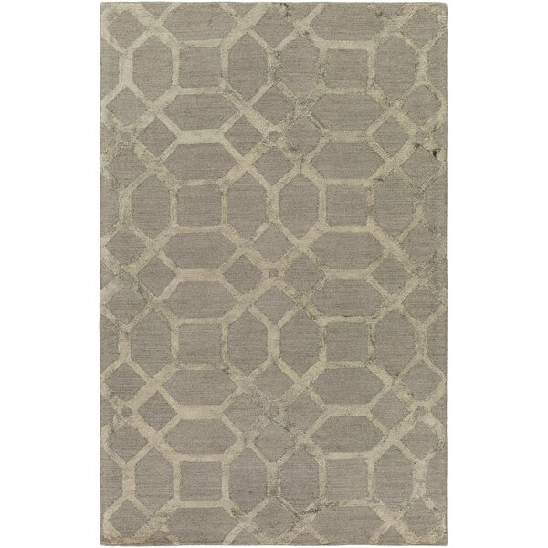 Glenmore Hand-Tufted Gray Area Rug by Ivy Bronx