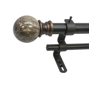 davidson core marble ball double telescoping drapery rod set