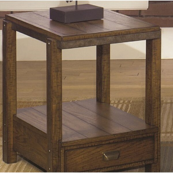 Ivette Rectangular End Table by Loon Peak