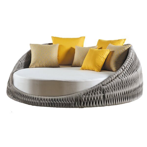 Pascarella Round Loveseat with Cushions by Bungalow Rose Bungalow Rose
