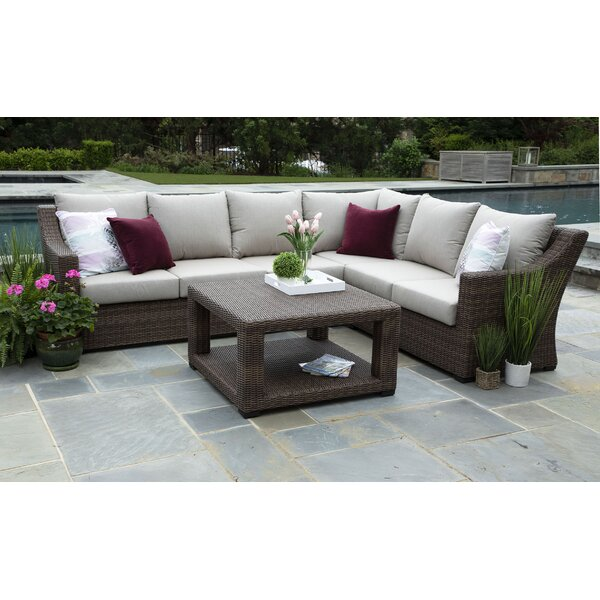 Arjun 5 Piece Sunbrella Sectional Seating Group with Cushions by Brayden Studio