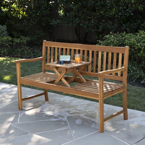 Tilcara Convertible Wooden Garden Bench by Highland Dunes