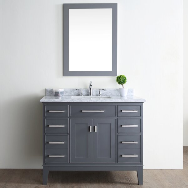 Arminta 42 Single Bathroom Vanity Set by Charlton