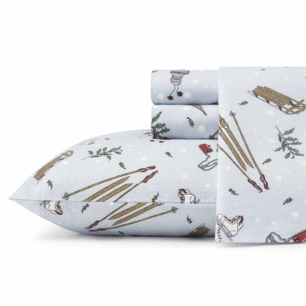 Snow Days Flannel Sheet Set by Eddie Bauer