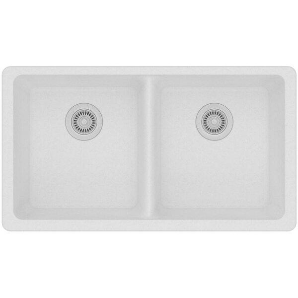 Classic 33 x 19 Double Basin Undermount Kitchen Sink by Elkay