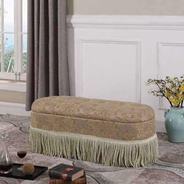 Finley Floral Upholstered Storage Bench by Astoria Grand