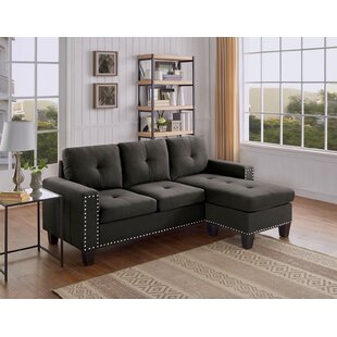 Steck Reversible Sectional Ebern Designs