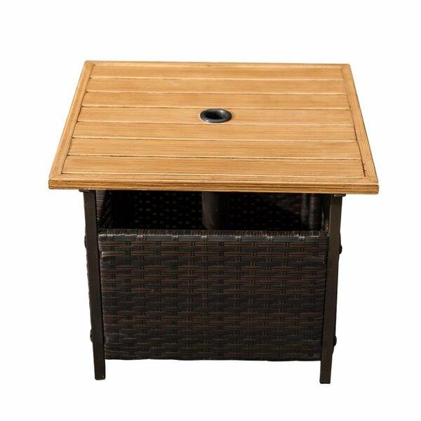 Flatiron Wicker Side Table by Red Barrel Studio