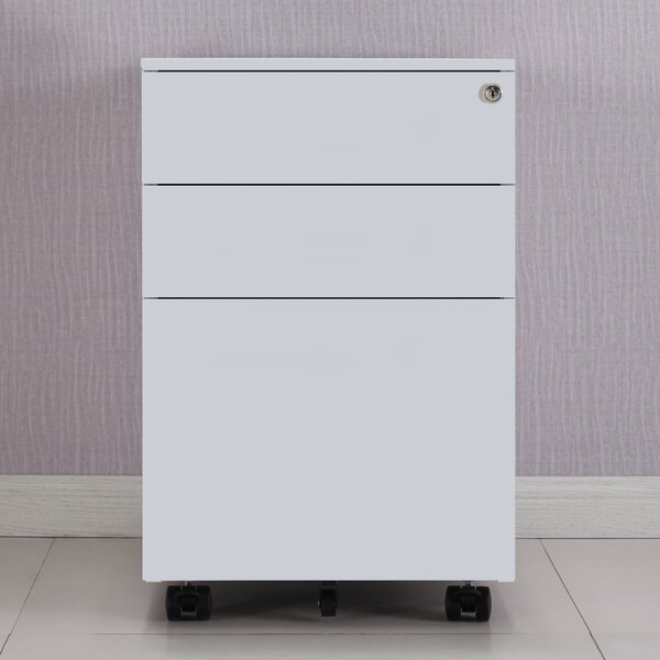 Brickerville 3 Drawer Mobile Vertical Filing Cabinet