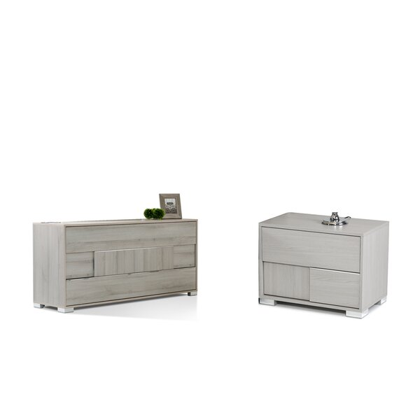 Febus 3 Drawer Dresser With 2 Nightstands By Orren Ellis by Orren Ellis Sale