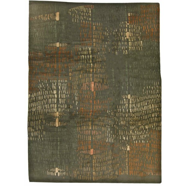 One-of-a-Kind Prati Hand-Knotted Brown 9' x 12' Area Rug