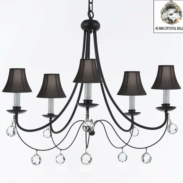 Weigand 5-Light Shaded Classic / Traditional Chandelier by Astoria Grand Astoria Grand