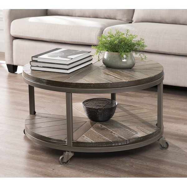 Brien Wheel Coffee Table with Storage by Union Rustic Union Rustic