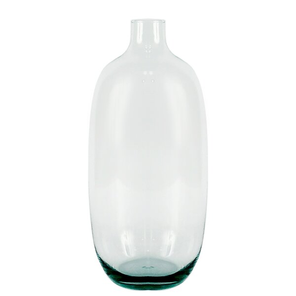 Sattler Recycled Glass Floor Vase by Highland Dunes
