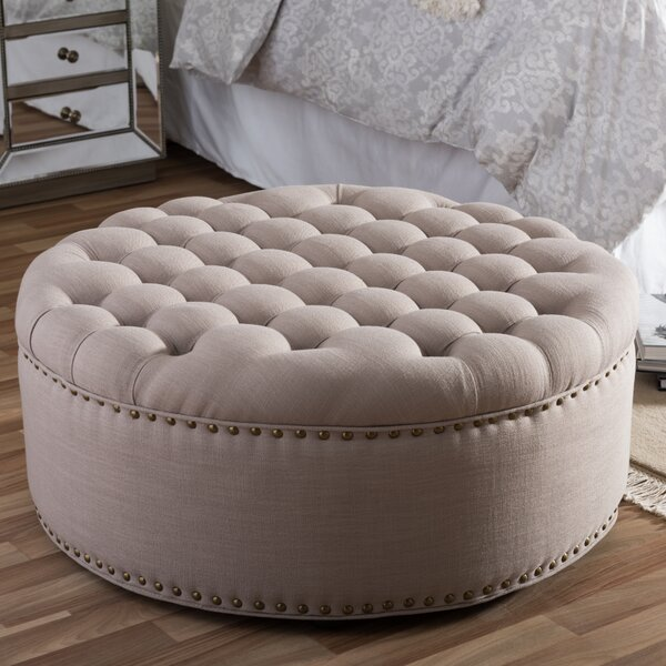 Poyner Tufted Cocktail Ottoman by Lark Manor