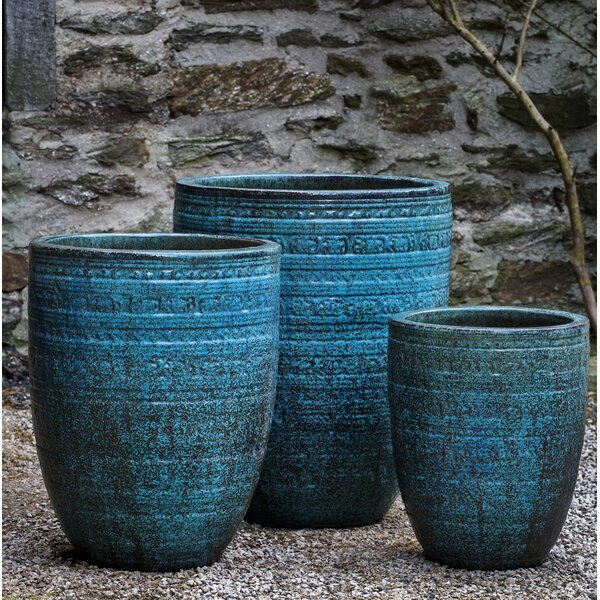 Ameer 3-Piece Terracotta Pot Planter by Bloomsbury Market