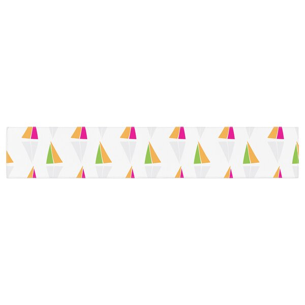 Apple Kaur Designs Triangles Table Runner by East Urban Home